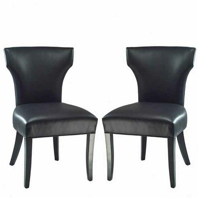 Picture of Safavieh Matty Side Chair (Set of 2) Upholstery: Black in Large Size