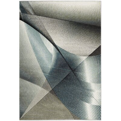 Anne Gray/Teal Area Rug Rug Size: Rectangle 9' x 12'