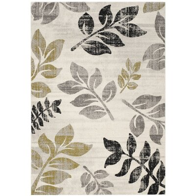 Porcello Ivory/Green Area Rug Size: 2'4