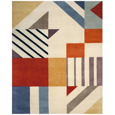 Fifth Avenue Hand-Tufted Ivory/Multi-Colored Area Rug Rug Size: 8' x 10'