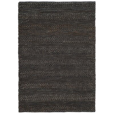 Natural Fiber Hand-Woven Charcoal Area Rug Rug Size: 4' x 6'