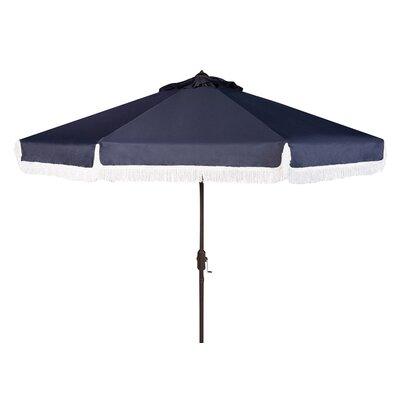 9' Milan Fringe Crank Outdoor Drape Umbrella