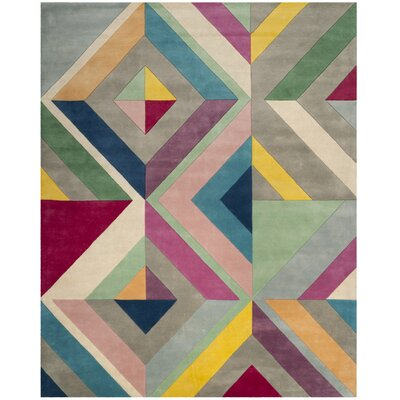Fifth Avenue Hand-Tufted Gray/Multi-Colored Area Rug Rug Size: 8' x 10'
