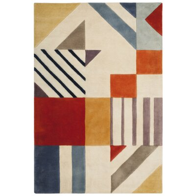 Fifth Avenue Hand-Tufted Ivory/Multi-Colored Area Rug Rug Size: 4' x 6'