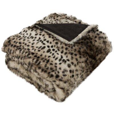 Faux Leopardis Throw Blanket