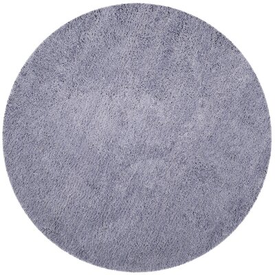 Starr Hill Hand-Woven Purple Area Rug Rug Size: Round 4