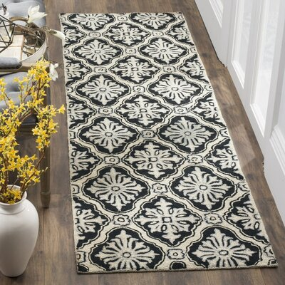 DuraArea Rug Black/Taupe Area Rug Rug Size: Rectangle 4' x 6'