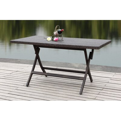 Dilettie Folding Picnic Table Finish: Brown