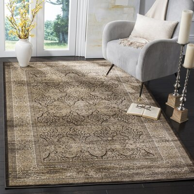 Mainville Black Area Rug Rug Size: Rectangle 4 x 57