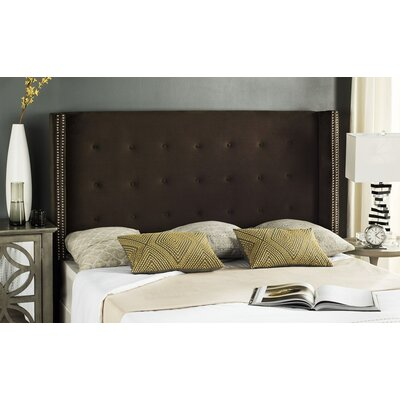 Keegan Velvet Upholstered�Wingback Headboard Size: Twin, Upholstery: Buckwheat
