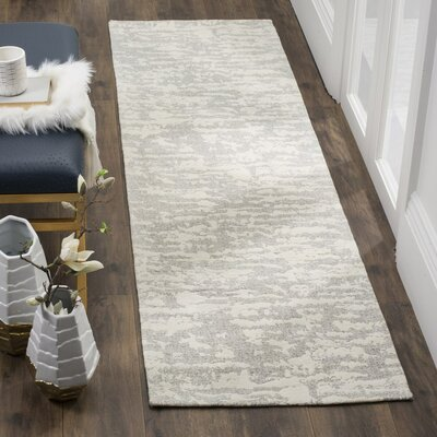 Marbella Hand-Woven Gray/Beige Area Rug Rug Size: Rectangle 23 x 4