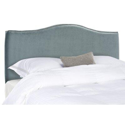 Jeneve Upholstered Panel Headboard Size: Full, Nailhead Finish: Silver, Upholstery: Wedgwood Blue