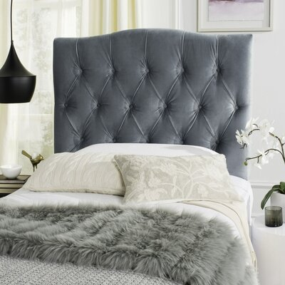 Axel Upholstered Panel Headboard Size: Twin, Upholstery: Wedgewood Blue