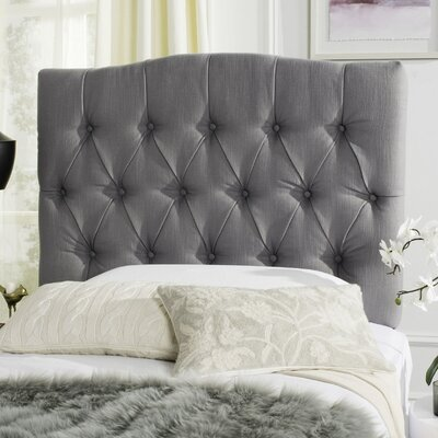 Axel Upholstered Panel Headboard Size: Twin, Upholstery: Light Grey