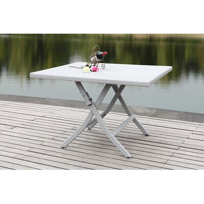 Dilettie Folding Picnic Table Finish: Grey
