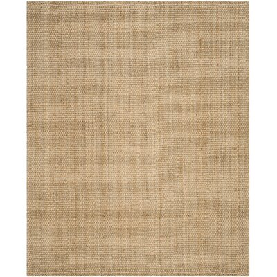 Addilyn Hand-Woven Natural Area Rug Rug Size: Rectangle 4 x 6