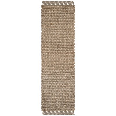 Myrtou Hand-Loomed Natural Area Rug Rug Size: Runner 26 x 8