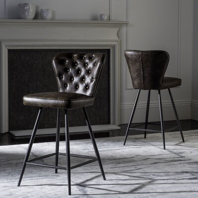 Byrd 25.98 Bar Stool Finish: Brown