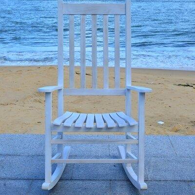 Shasta Rocking Chair Frame Finish: White Wash