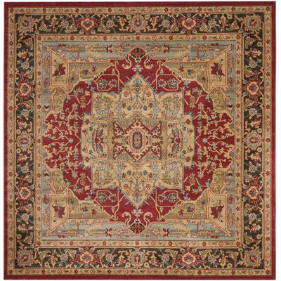 Mahal Red/Brown Area Rug Rug Size: Square 6'7