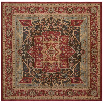 Mahal Red Area Rug Rug Size: Square 6'7