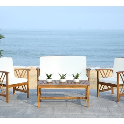 Fontana 4 Piece Seating Group with Cushions