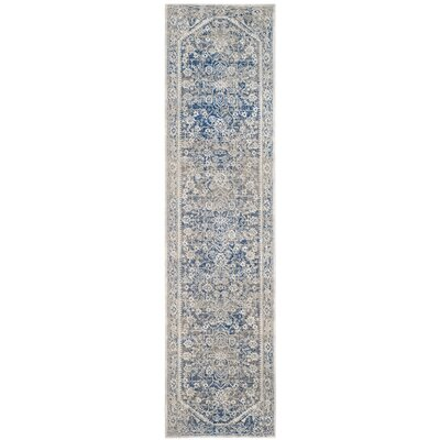 Rhodes Gray/Blue Area Rug Rug Size: Runner 22 x 8
