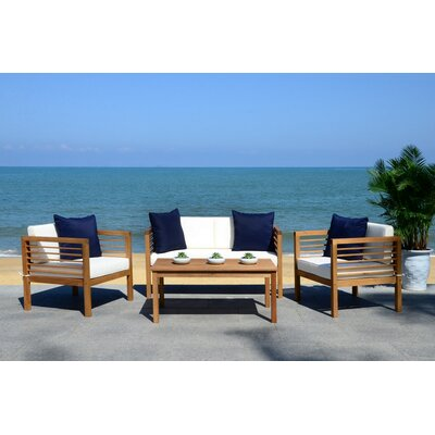 Daytona 4 Piece Lounge Seating Group with Cushion