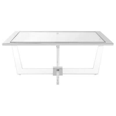 Gould Glass Coffee Table with Tray Top