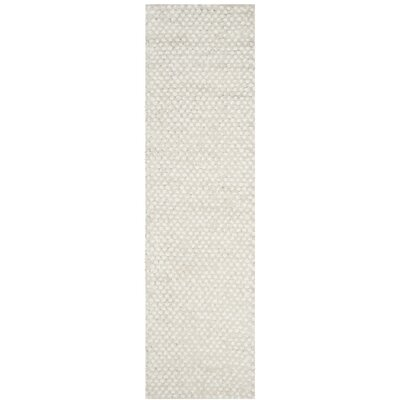 Saint Tropez Hand Woven Cotton White Area Rug Rug Size: Runner 23 x 8