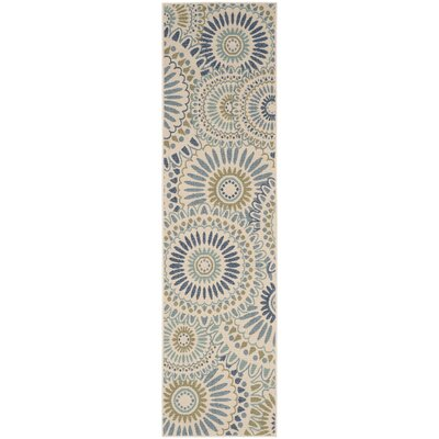 Caroline Indoor/Outdoor Rug in Green Rug Size: Runner 23 x 8