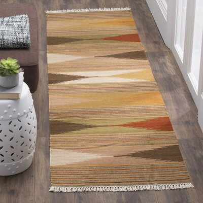 Kilim Brown & Tan Area Rug