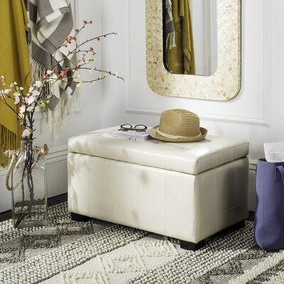 Strickland Ottoman Upholstery: Off White