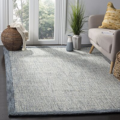 Bloom Hand-Tufted Blue/Beige Area Rug Rug Size: Rectangle 6 x 9