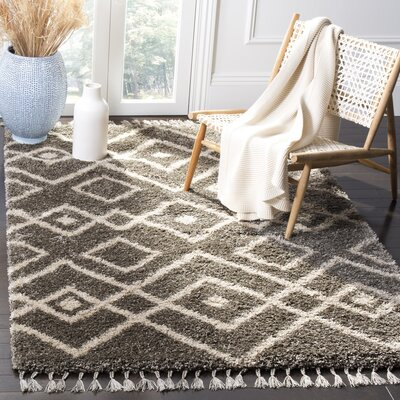 Kindred Grey/Cream Area Rug Rug Size: Rectangle 8 x 10