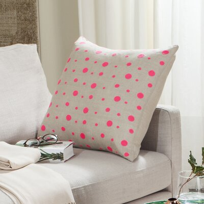Candy Buttons Linen Throw Pillow