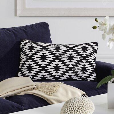 Southwest Cotton Lumbar Pillow Color: Black