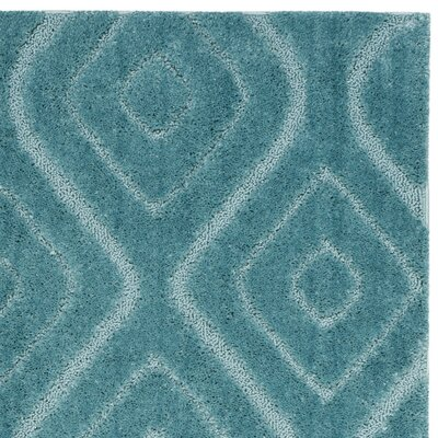 Helms Blue Area Rug Rug Size: 51 x 76