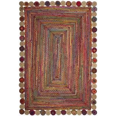 Bowen Hand-Woven Red/Green Area Rug Rug Size: 4 x 6