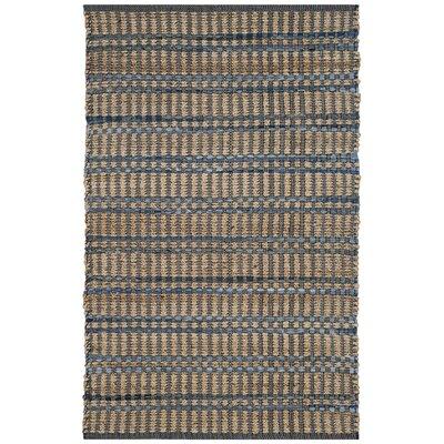 Bowen Hand-Woven Beige/Blue Area Rug Rug Size: Runner 23 x 8