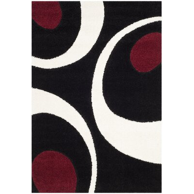Stacie Black/Ivory Area Rug Rug Size: Square 67