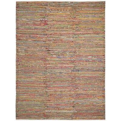 Bowen Hand-Woven Natural/Red Area Rug Rug Size: 8 x 10