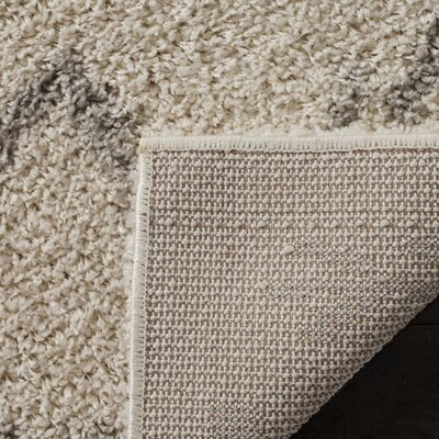 Amicus Beige/Gray Area Rug Rug Size: Rectangle 51 x 76