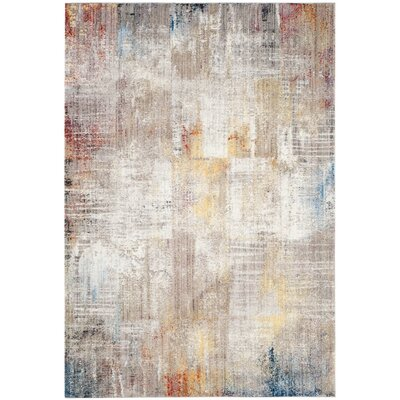 Jasper Gray/Gold Area Rug Rug Size: Runner 23 x 8