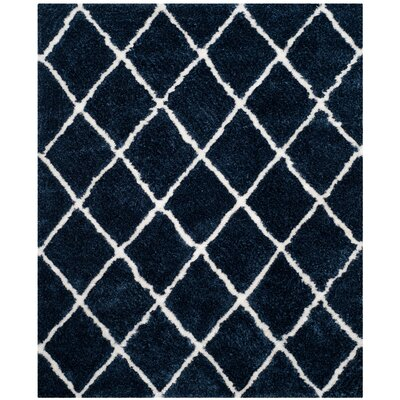 Lindsay Hand-Tufted Navy/White Area Rug