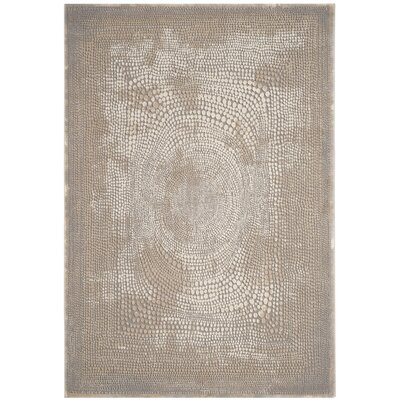 Edvin Brown/Beige Area Rug Rug Size: Runner 27 x 8
