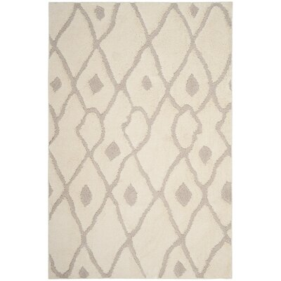 Helms Cream/Brown Area Rug Rug Size: 51 x 76