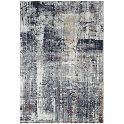 Jasper Black/White Area Rug Rug Size: Square 7