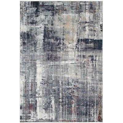 Jasper Charcoal/Ivory Area Rug Rug Size: 51 x 76