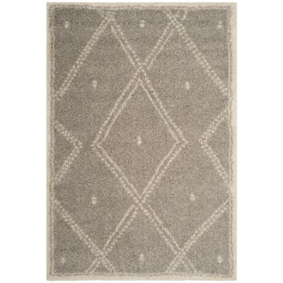 Amicus Beige/Gray Area Rug Rug Size: Rectangle 8 x 10